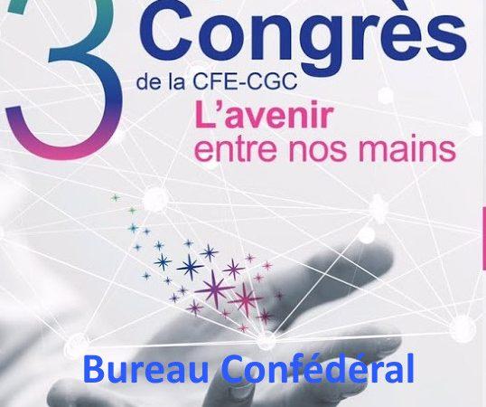 Le 37ème congrès de la CFE-CGC : le bureau confédéral est constitué