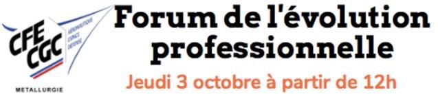 Forum de l'évolution professionnelle – 2ème édition – 3 octobre 2019
